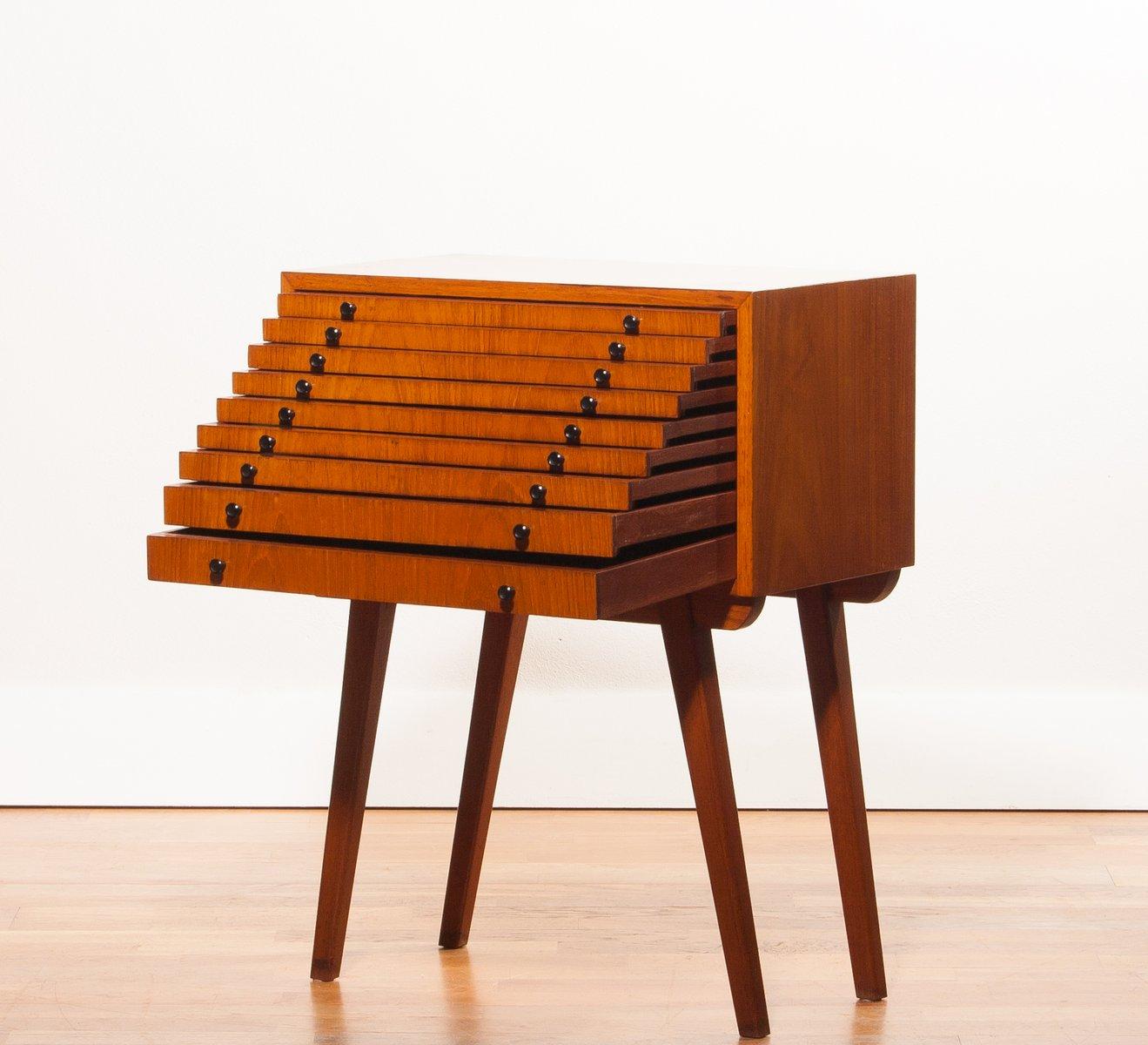 mid century m nzsammler kommode 1950er bei pamono kaufen. Black Bedroom Furniture Sets. Home Design Ideas