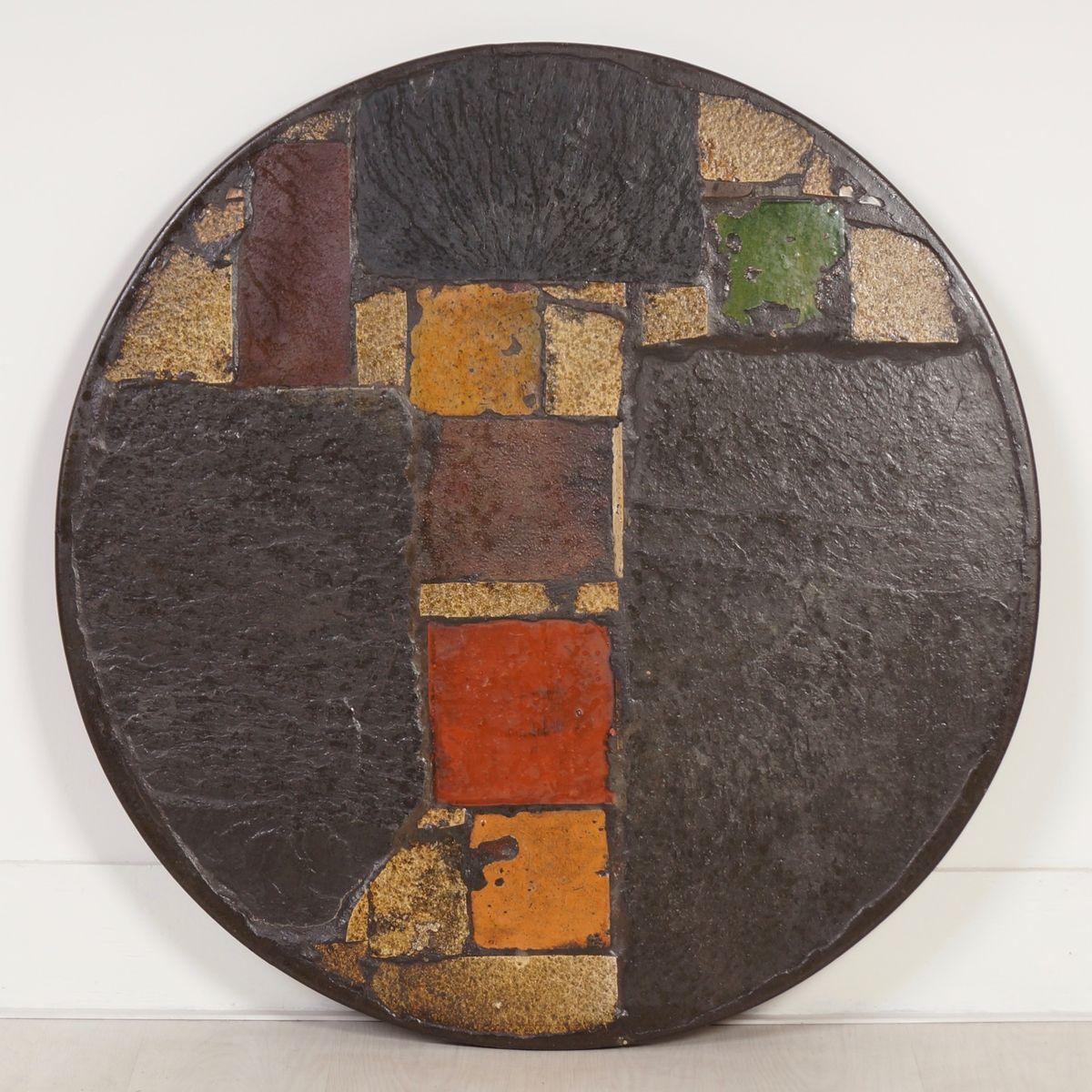 Runder Bunter Couchtisch von Paul Kingma, 1970er bei