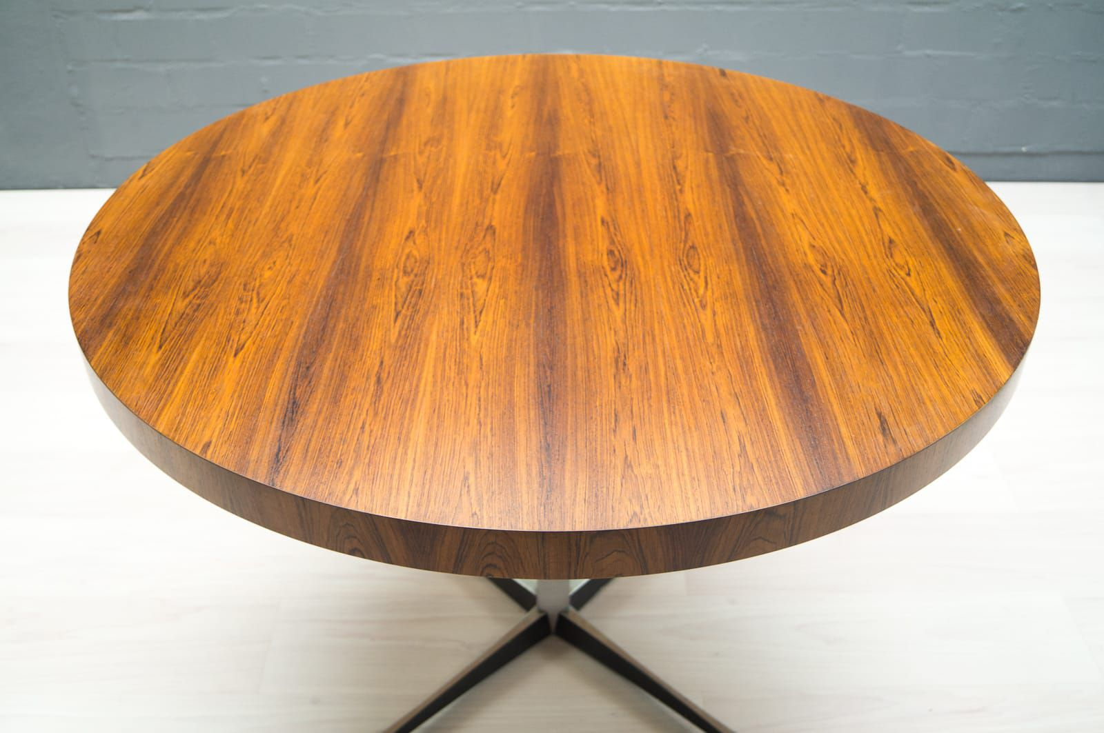 mid century hight adjustable rosewood and glass coffee or dining