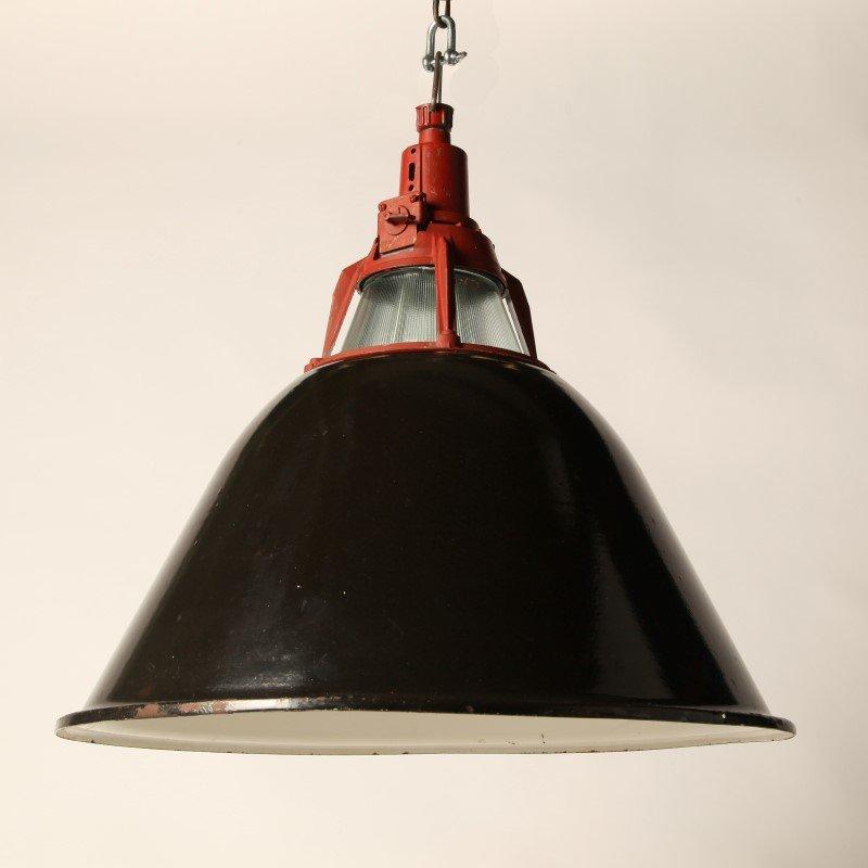 Lampe Suspension Industrielle Vintage Rouge Ukraine En Vente Sur Pamono