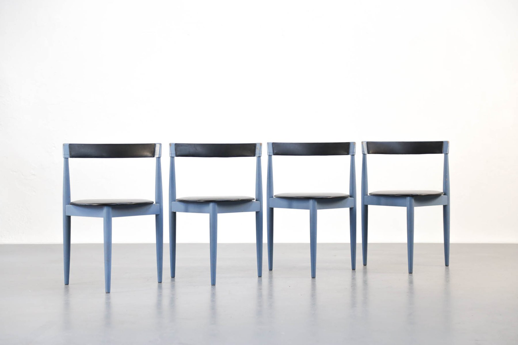 Vintage Danish Blue Dining Chairs by Hans Olsen for Frem R¸jle