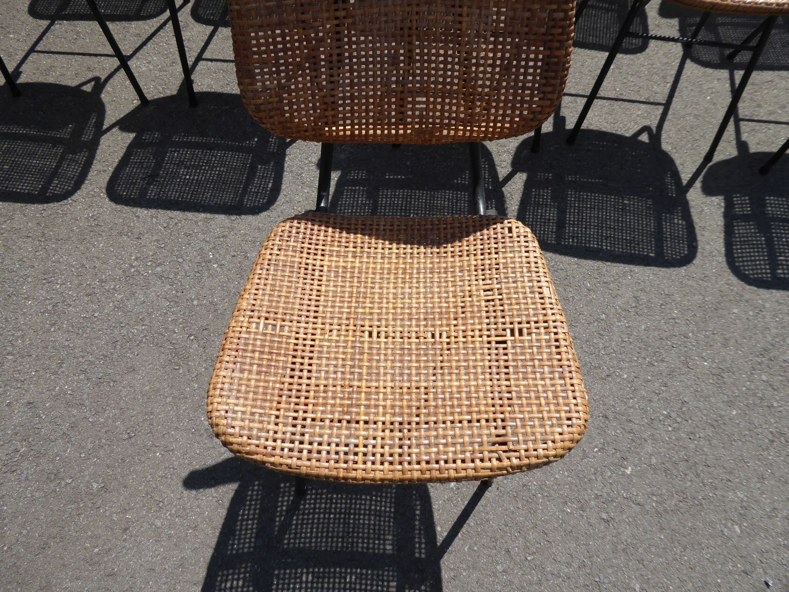 Mid century rattan chair by dirk van sliedregt for roh for Design stuhl leisure