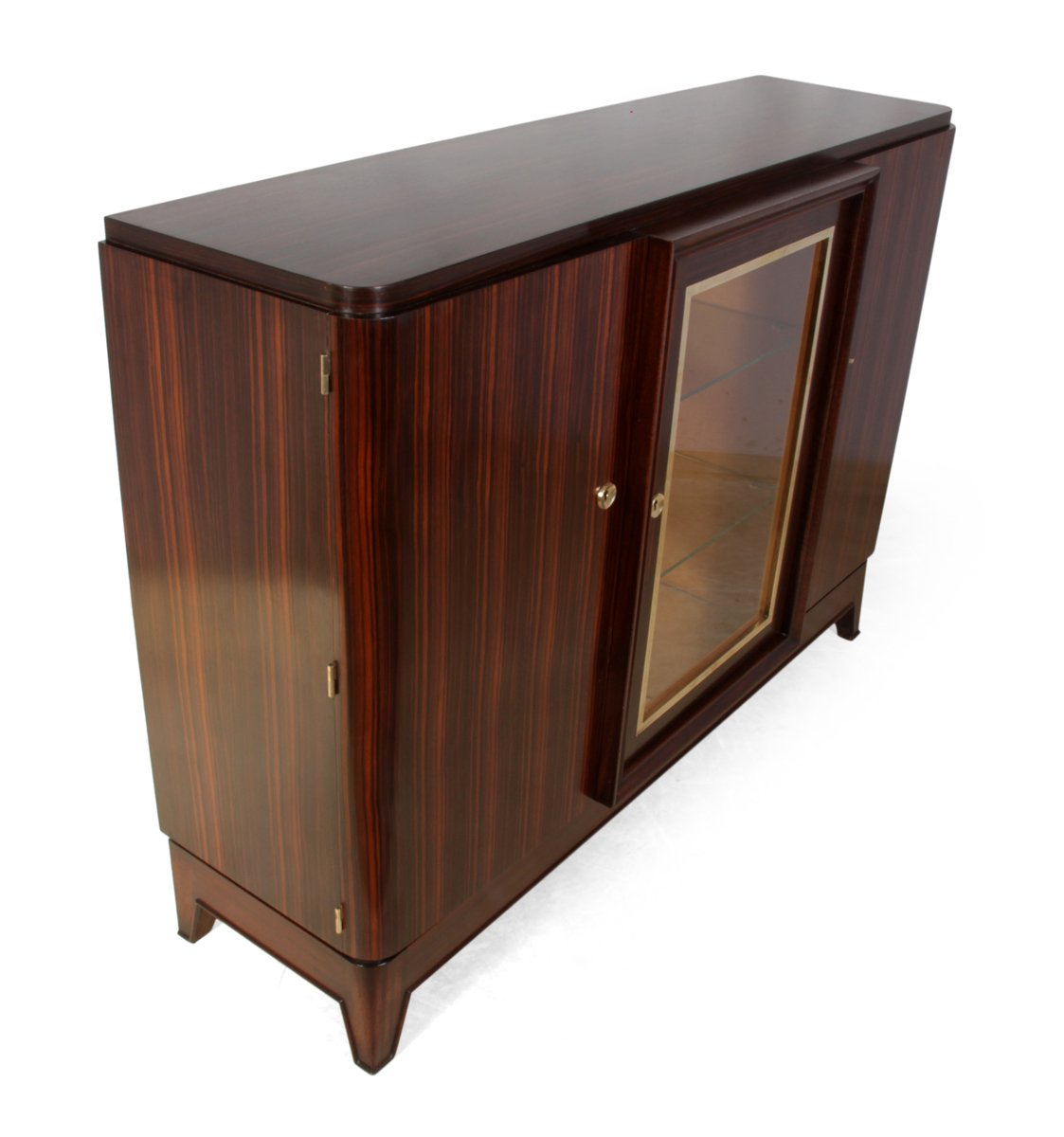French art deco sideboard in macassar ebony 1930s for for Meuble art deco 1930