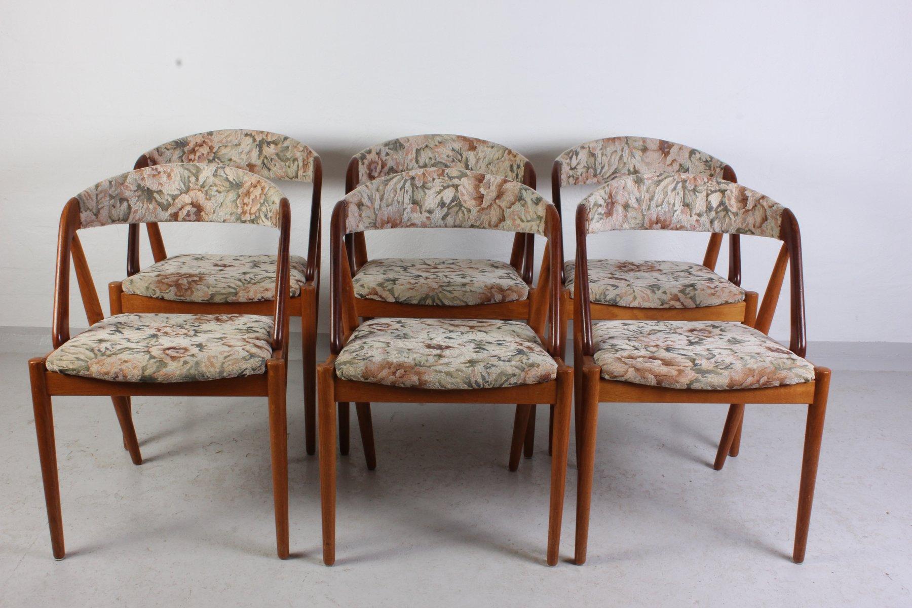 Mid Century Dining Chairs By Kai Kristiansen, Set Of 6