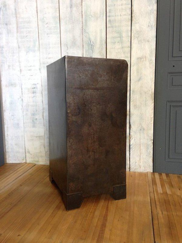 meuble de rangement d 39 atelier vintage en m tal en vente sur pamono. Black Bedroom Furniture Sets. Home Design Ideas