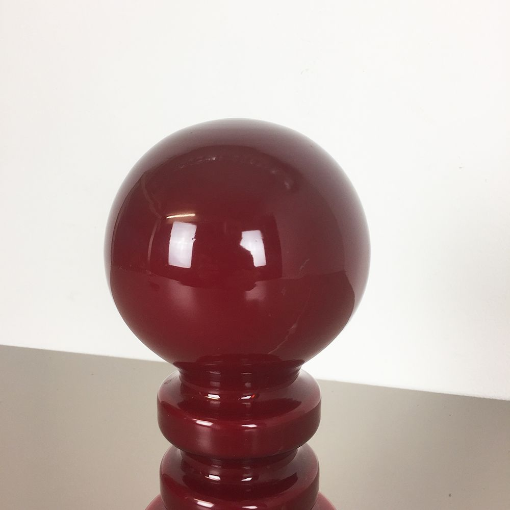 Red Mushroom Desk Lamp From Peill Amp Putzler 1960s For