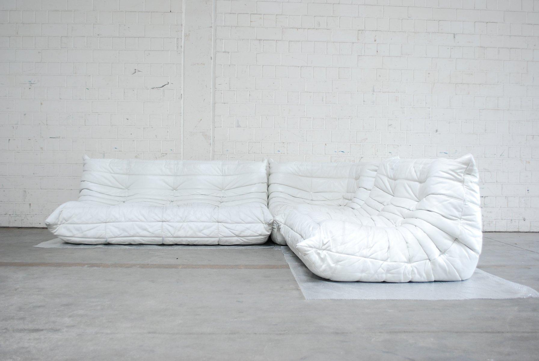wei es modulares togo ledersofa von ligne roset bei pamono. Black Bedroom Furniture Sets. Home Design Ideas