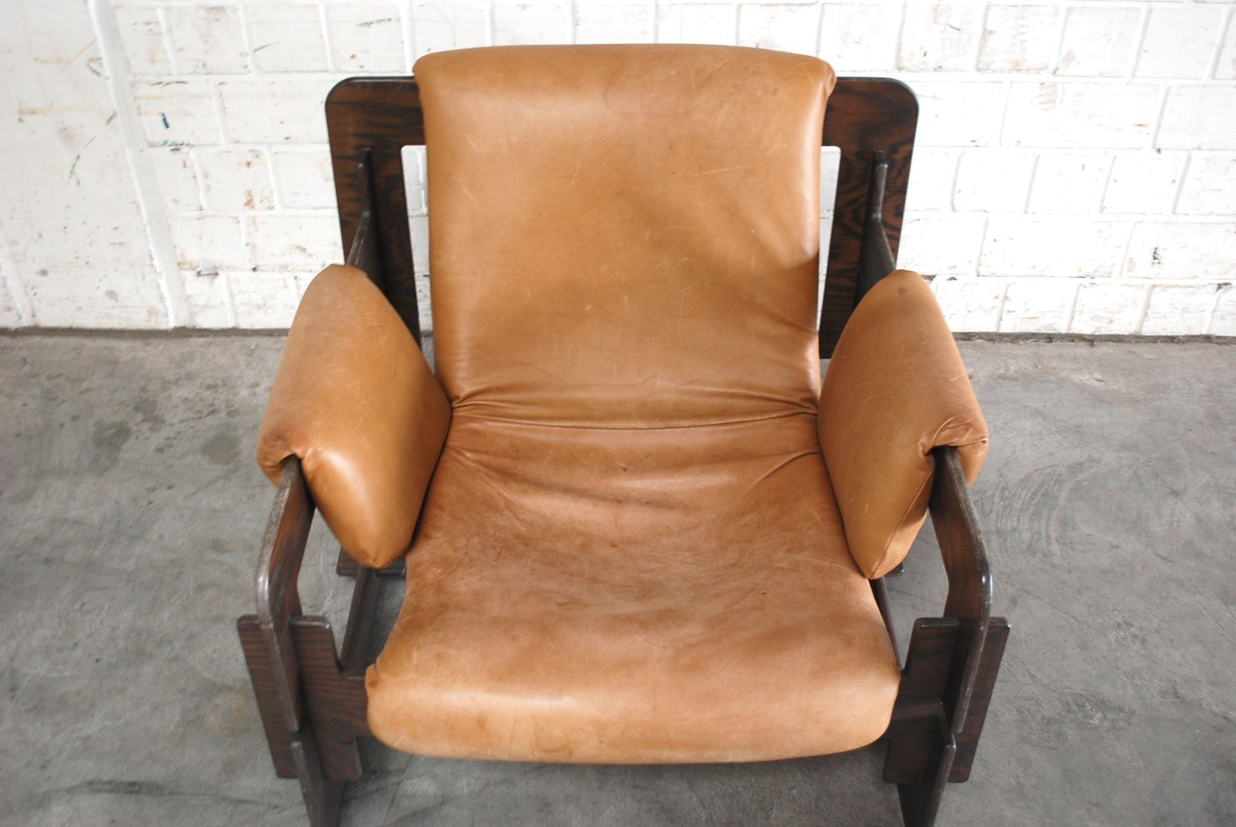 vintage cognac rover lounge armchairs by arne jacobsen for. Black Bedroom Furniture Sets. Home Design Ideas