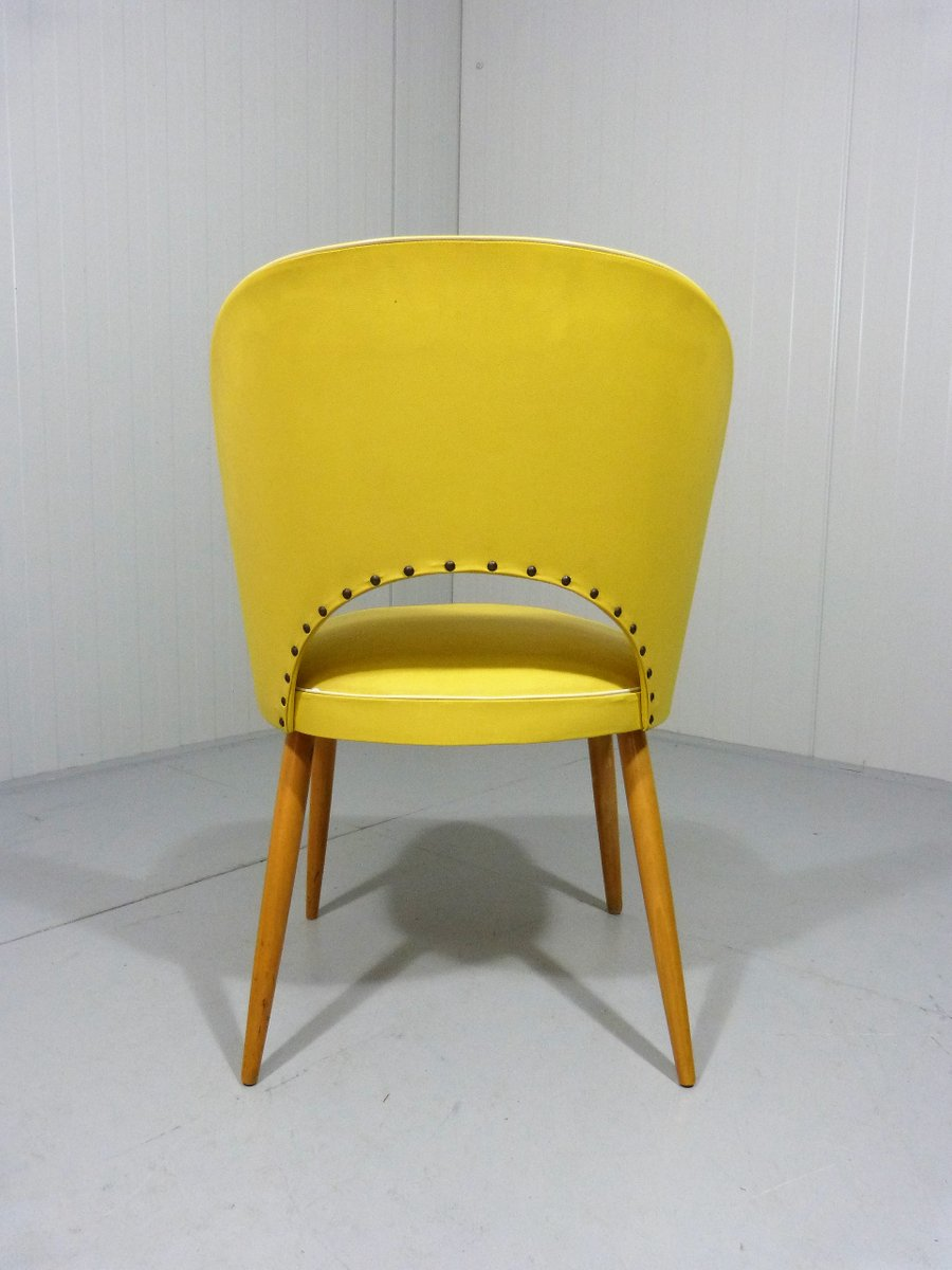 chaise de salon jaune 1950s en vente sur pamono. Black Bedroom Furniture Sets. Home Design Ideas