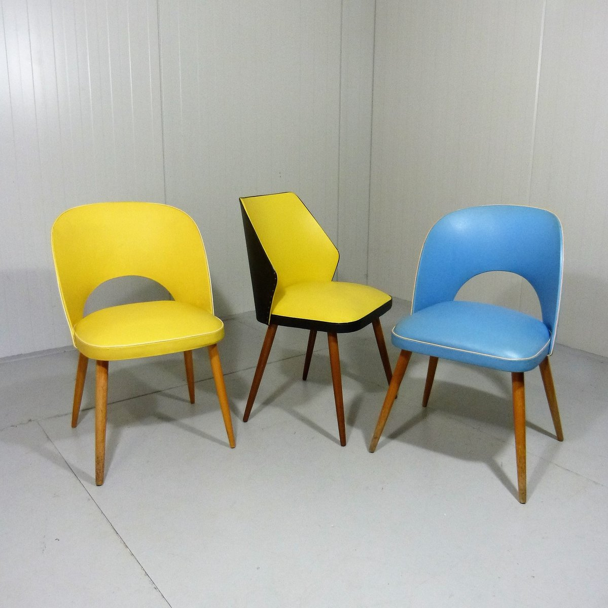 Yellow Dining Chairs: Yellow Dining Chair, 1950s For Sale At Pamono