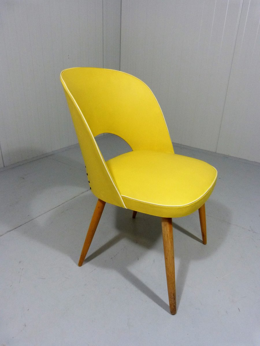 Chaise de salon jaune 1950s en vente sur pamono for Chaise salon solde