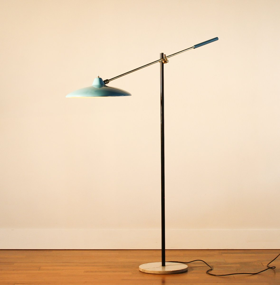 Blue Floor Lamp from Stilnovo, 1950s for sale at Pamono