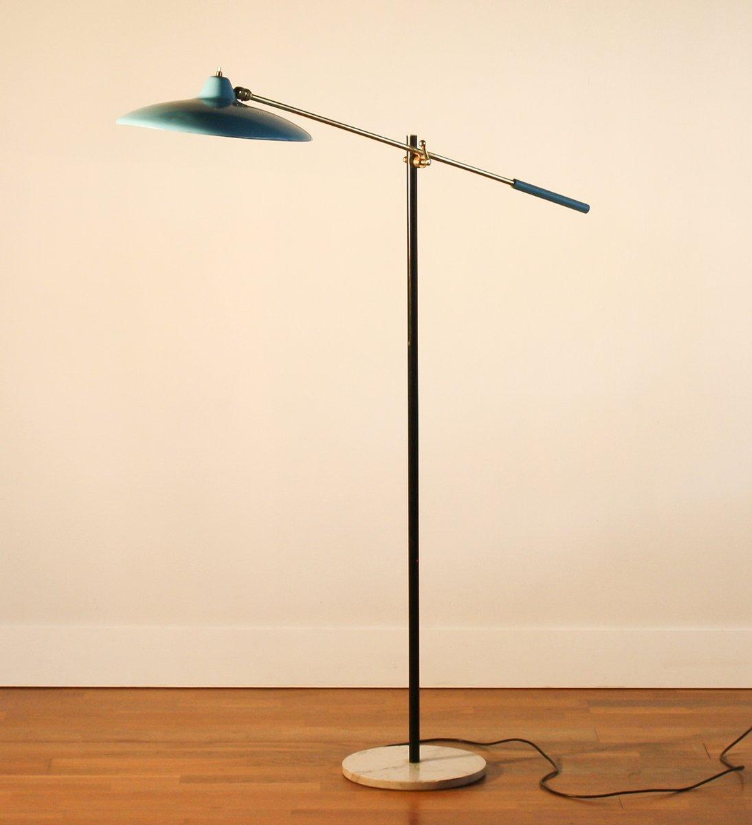 blue floor lamp from stilnovo s for sale at pamono - blue floor lamp from stilnovo s