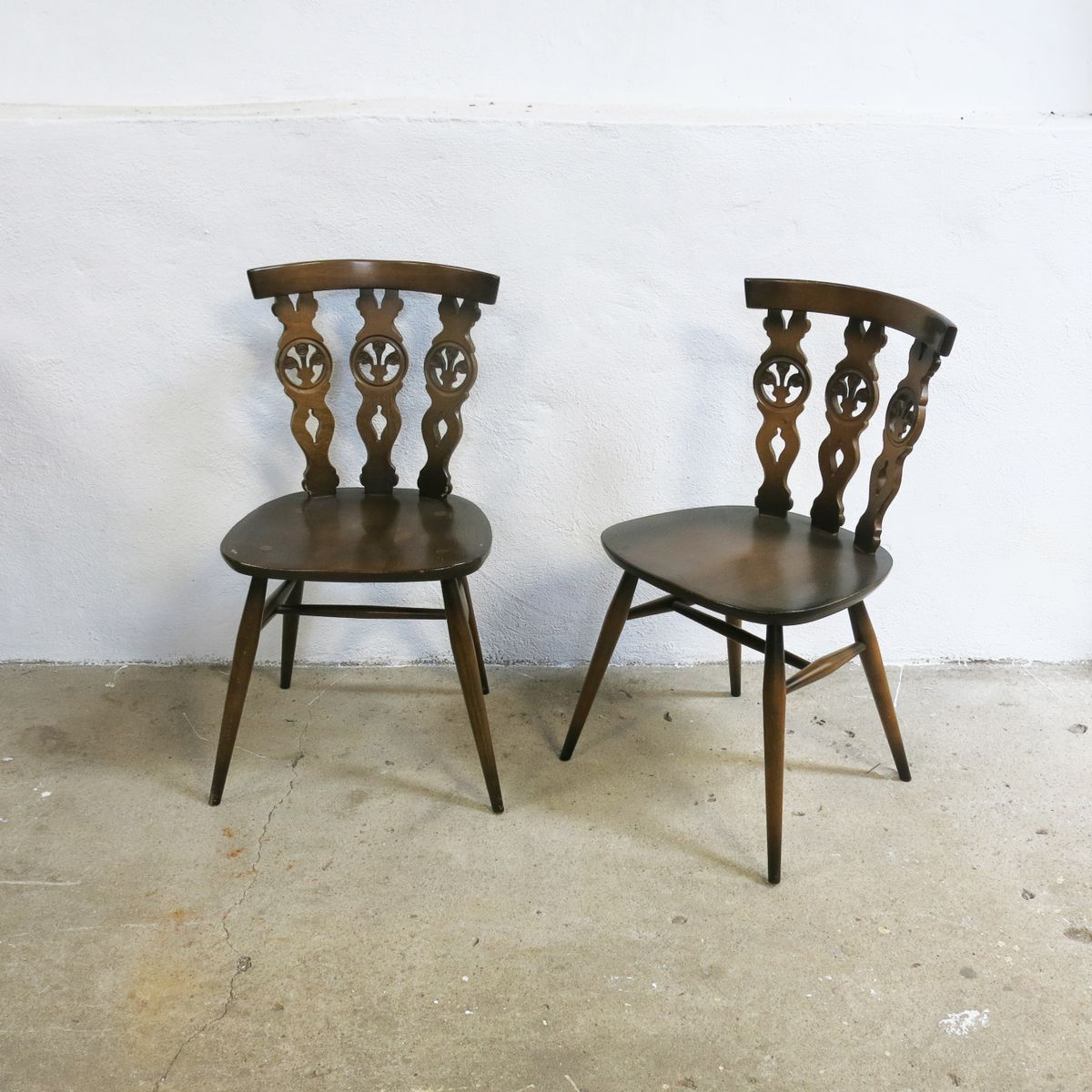 windsor st hle von lucian ercolani f r ercol 1960er 4er. Black Bedroom Furniture Sets. Home Design Ideas