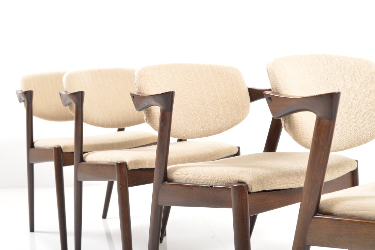 No dining chairs by kai kristiansen for schou andersen