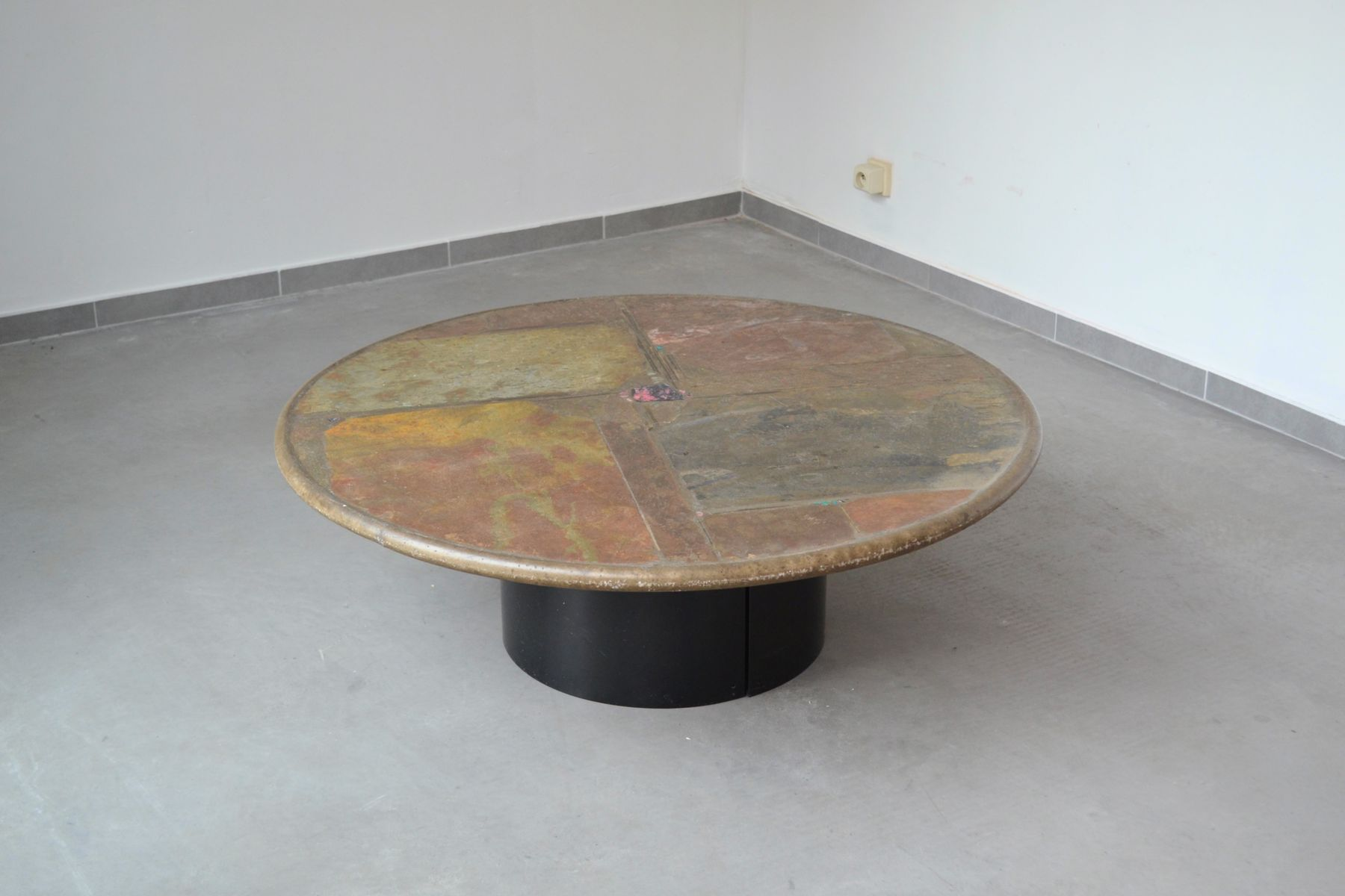 Slate stone coffee table by paul kingma 1993 for sale at Stone coffee table