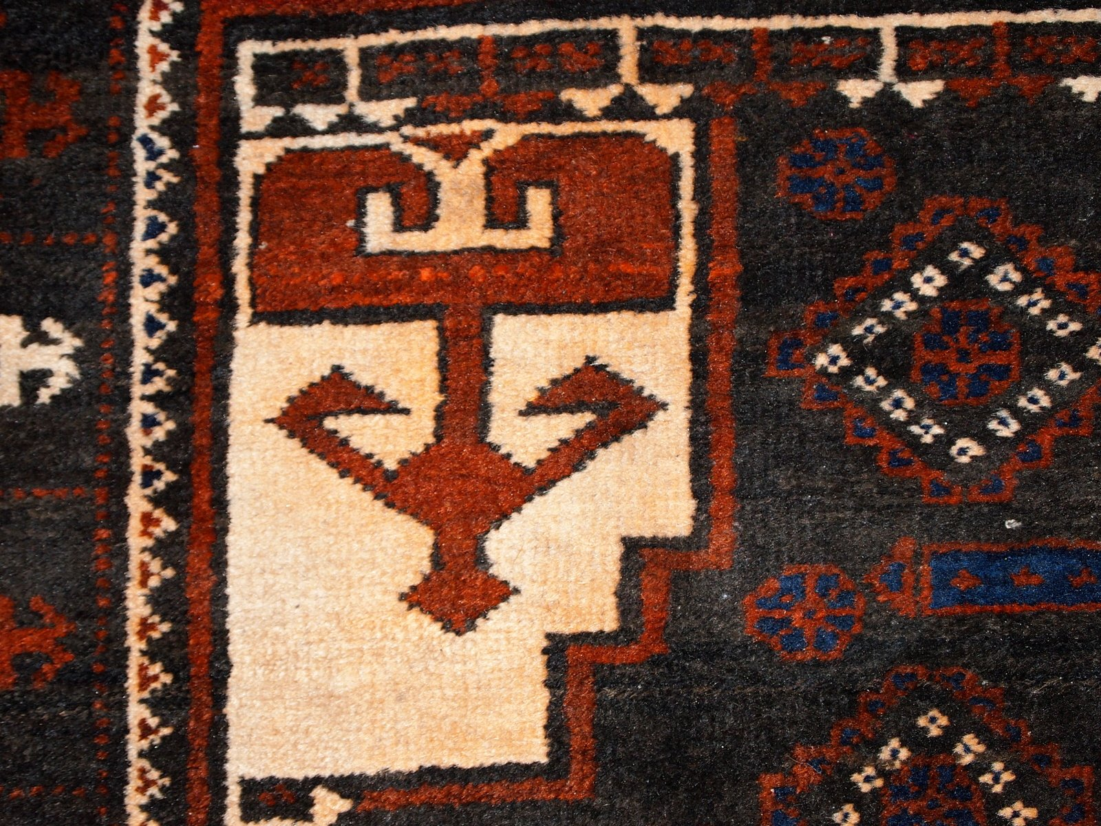 vintage handmade afghan baluch rug, 1940s for sale at pamono