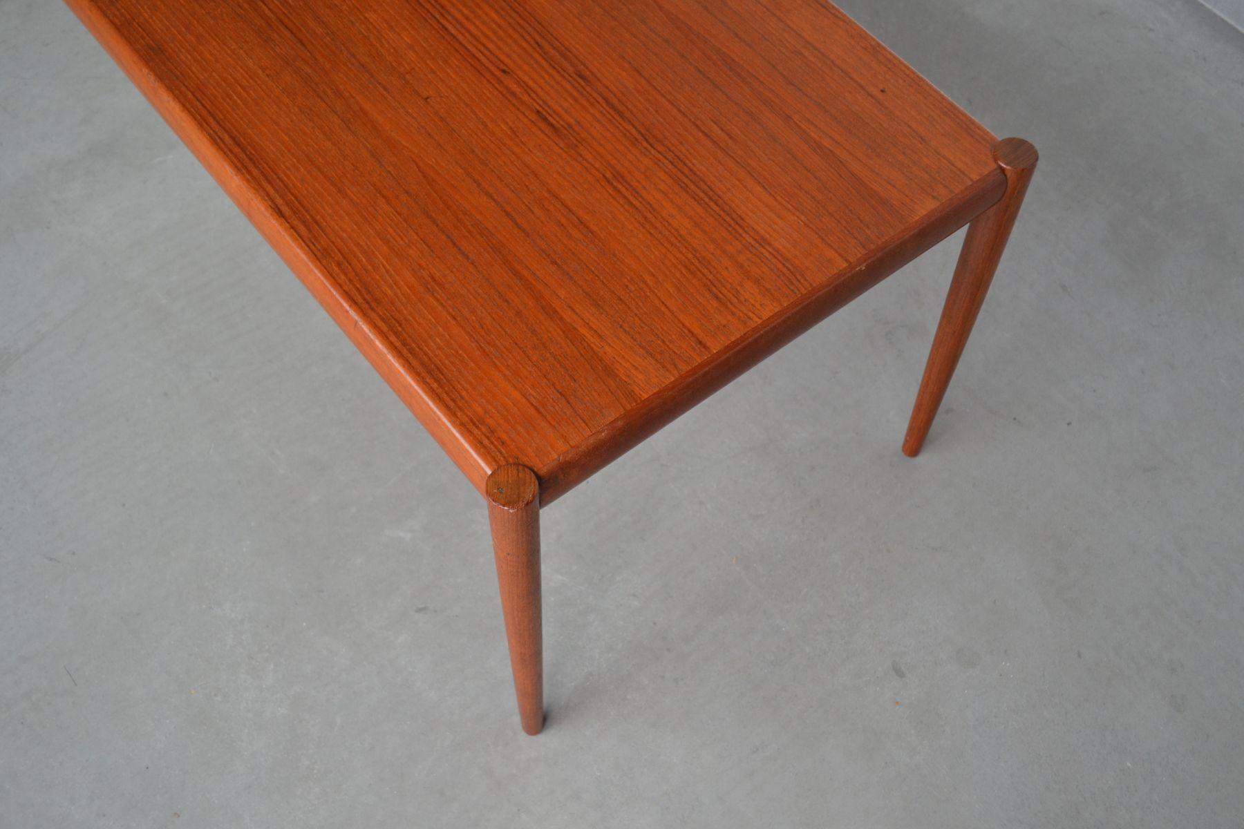 Danish Minimalist Teak Coffee Table 1960s For Sale At Pamono
