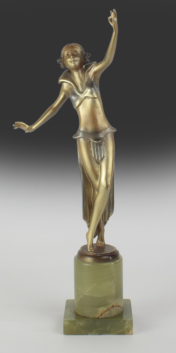 viennese deco bronze figure by josef lorenzl 1930s for sale at pamono