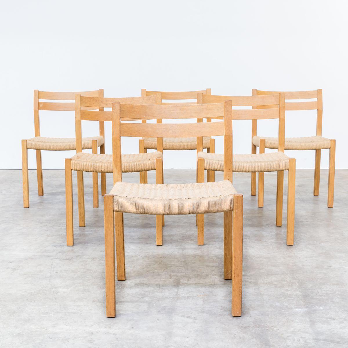 Chaises de salle manger en ch ne fum par niels otto for Chaise de salle a manger en chene