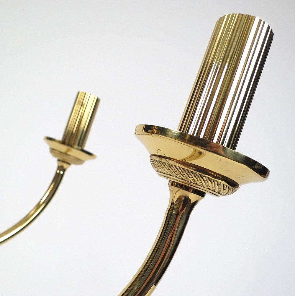 Vintage Belgian Brass Chandeliers By Boulanger Set Of 2