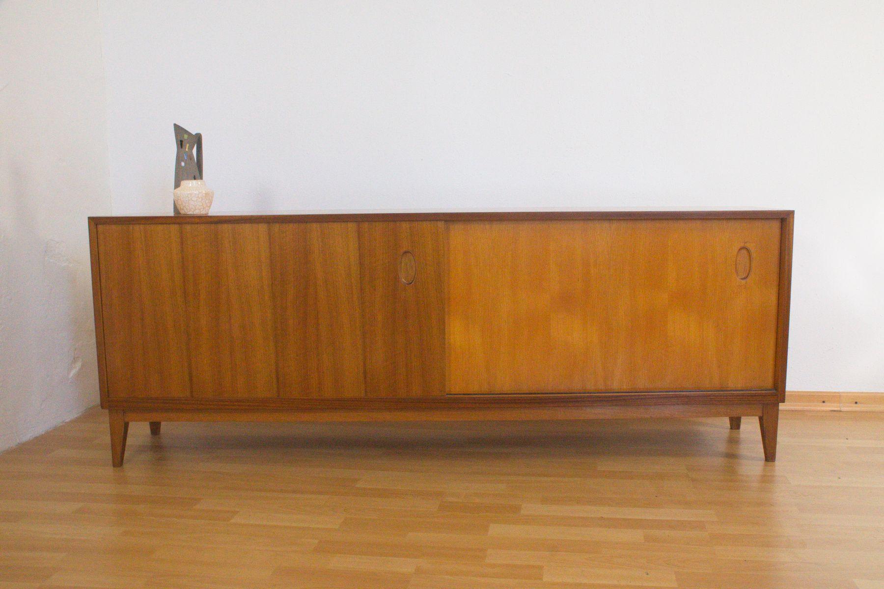 sideboard aus nussholz von georg satink f r wk m bel 1952. Black Bedroom Furniture Sets. Home Design Ideas