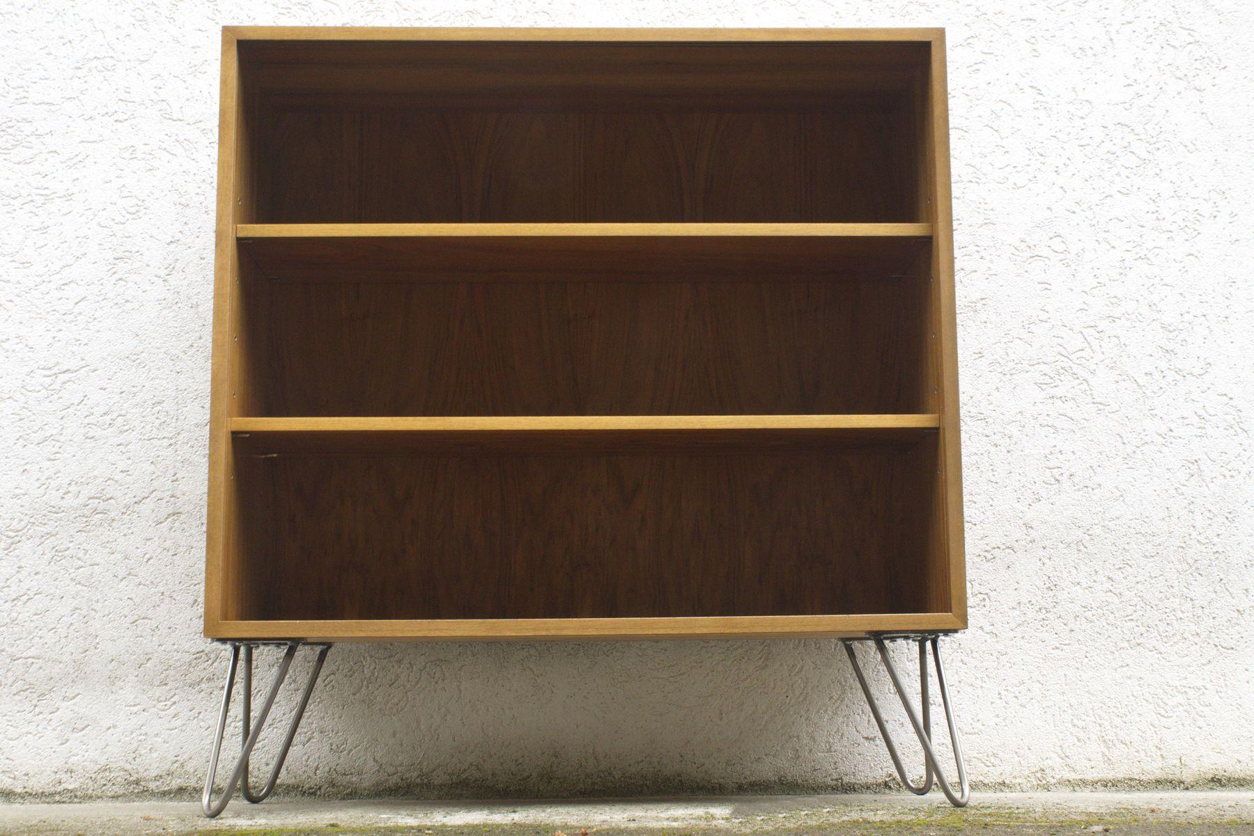 vintage nussholz regal von georg satink f r wk 1950er bei. Black Bedroom Furniture Sets. Home Design Ideas