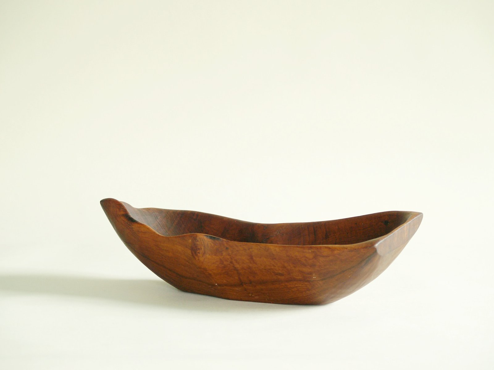 midcentury french freeform carved wooden bowl 1950s for sale at pamono