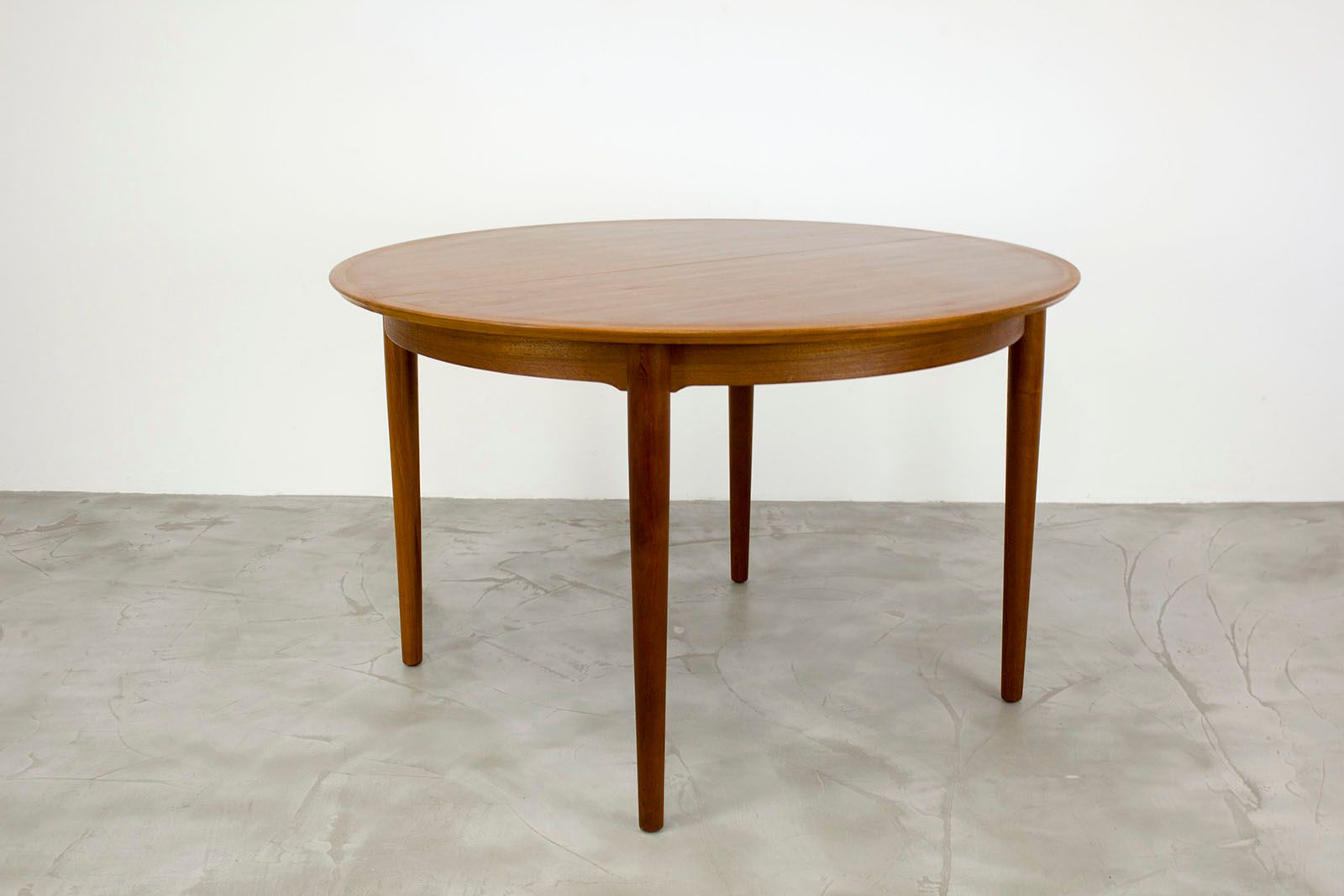 Danish Teak Dining Table With Extension Leaf By Arne