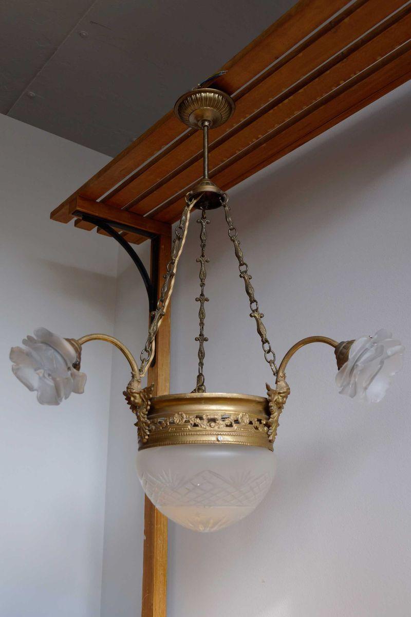 Kronleuchter Mit : Antiker belgischer kronleuchter mit sternschliff er bei pamono kaufen