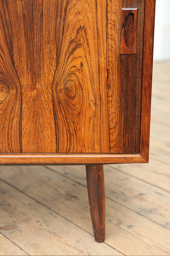 Small mid century rosewood sideboard with sliding doors for Small doors for sale
