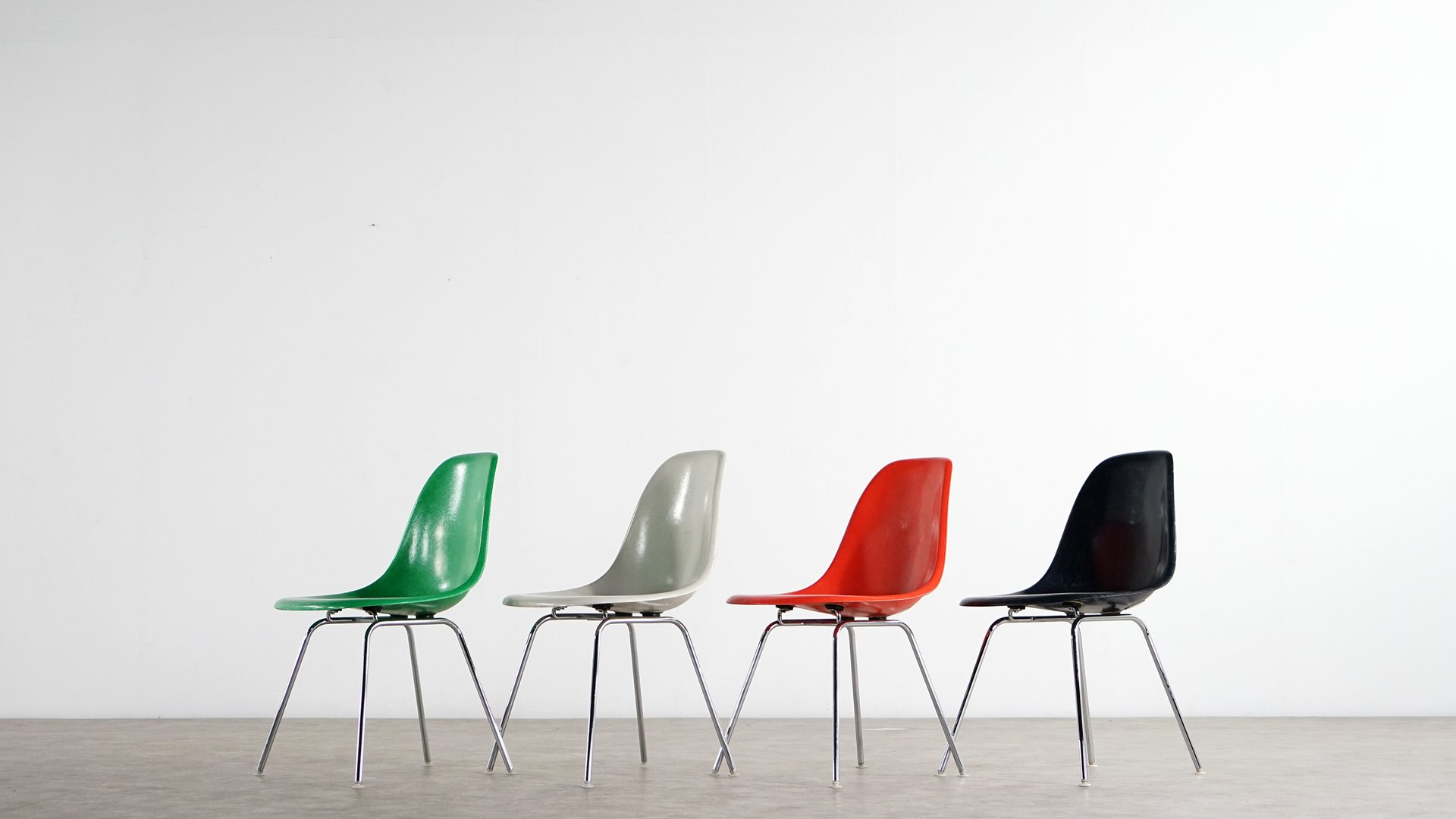 Mid Century Side Chairs by Charles & Ray Eames for Herman Miller