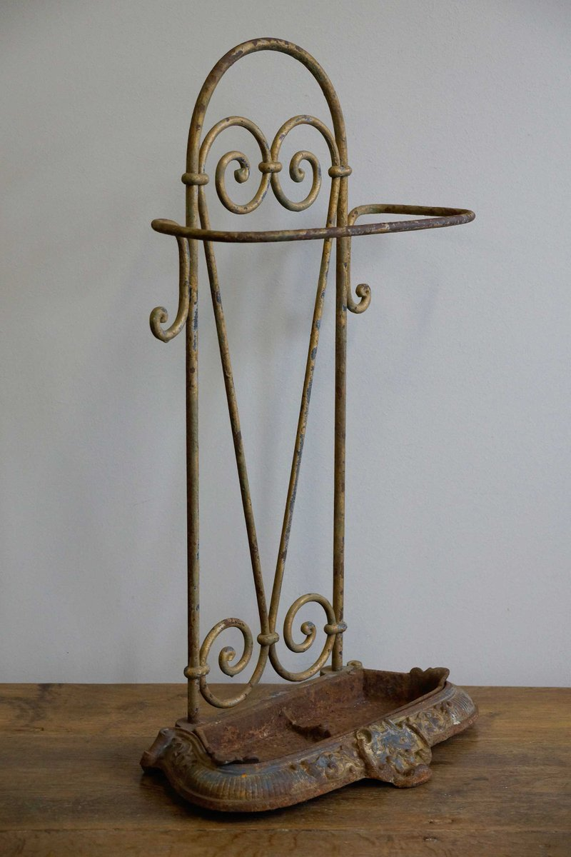 Art nouveau hand forged umbrella stand 1890 for sale at for Stand parapluie