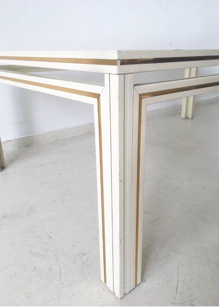 Vintage parisian rectangular glass coffee table 1970s for for Antique rectangular glass coffee table design