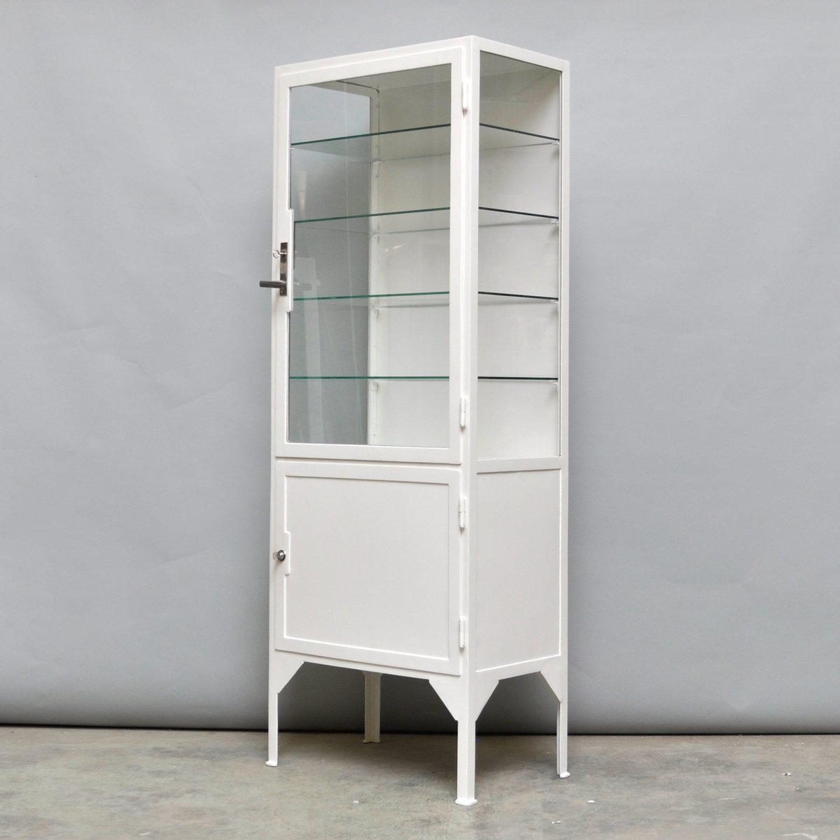 Steel & Glass Medicine Cabinet, 1940s for sale at Pamono