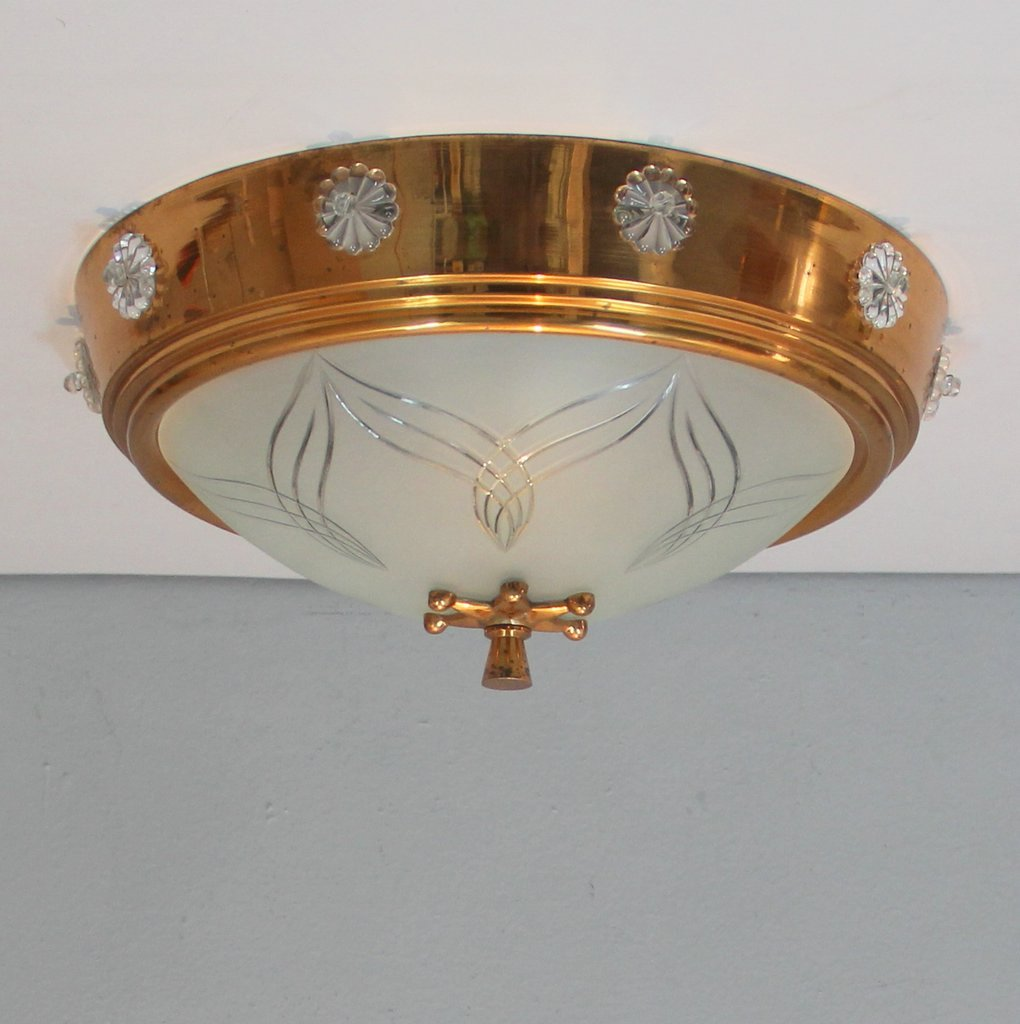 art deco ceiling light 1940s for sale at pamono. Black Bedroom Furniture Sets. Home Design Ideas