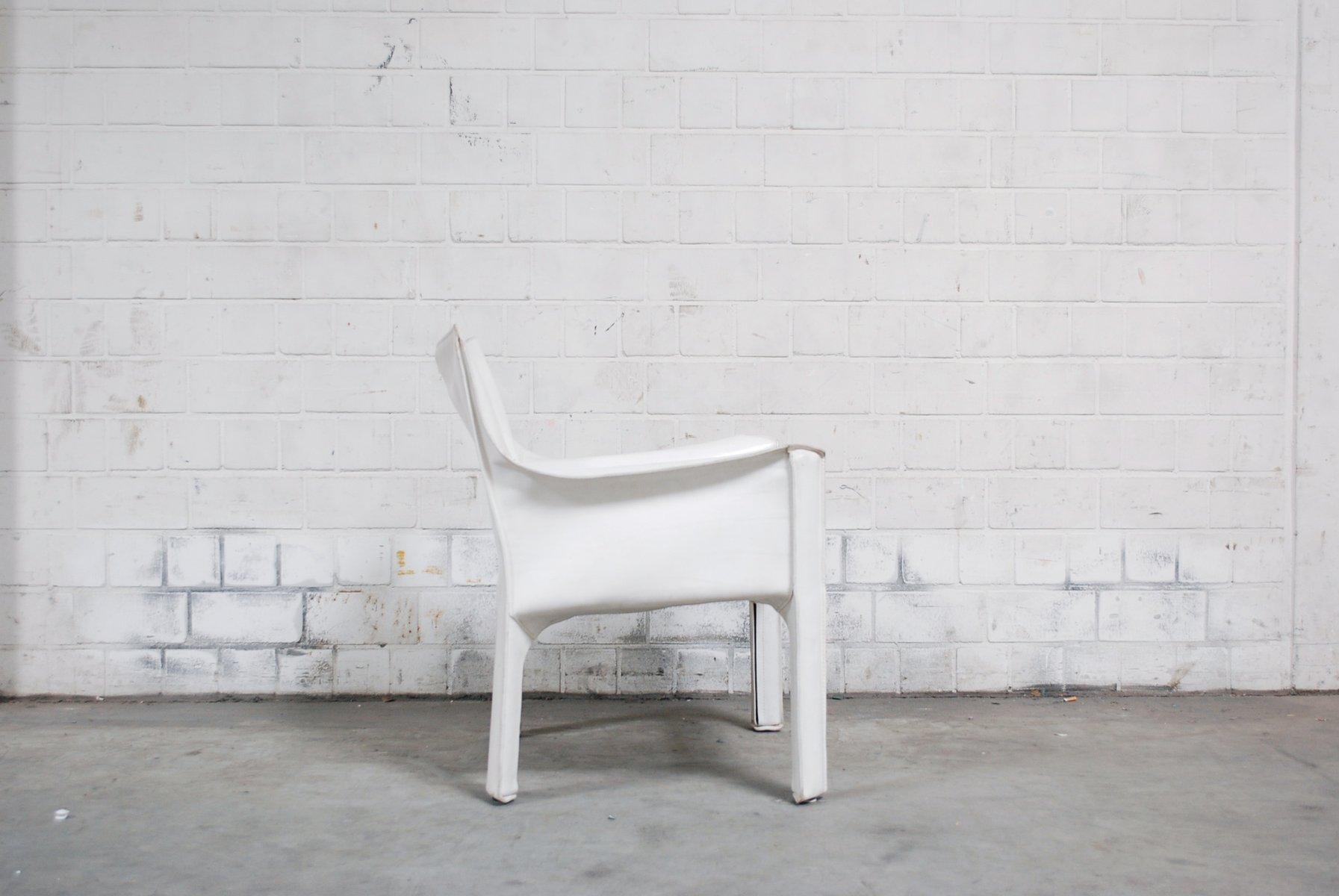 wei er vintage cab 414 armlehnstuhl von mario bellini f r. Black Bedroom Furniture Sets. Home Design Ideas