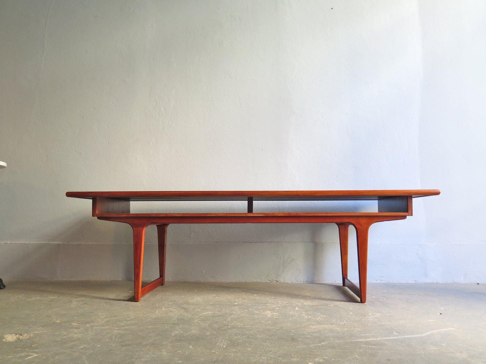 Table basse mid century en teck en vente sur pamono for Table basse en teck