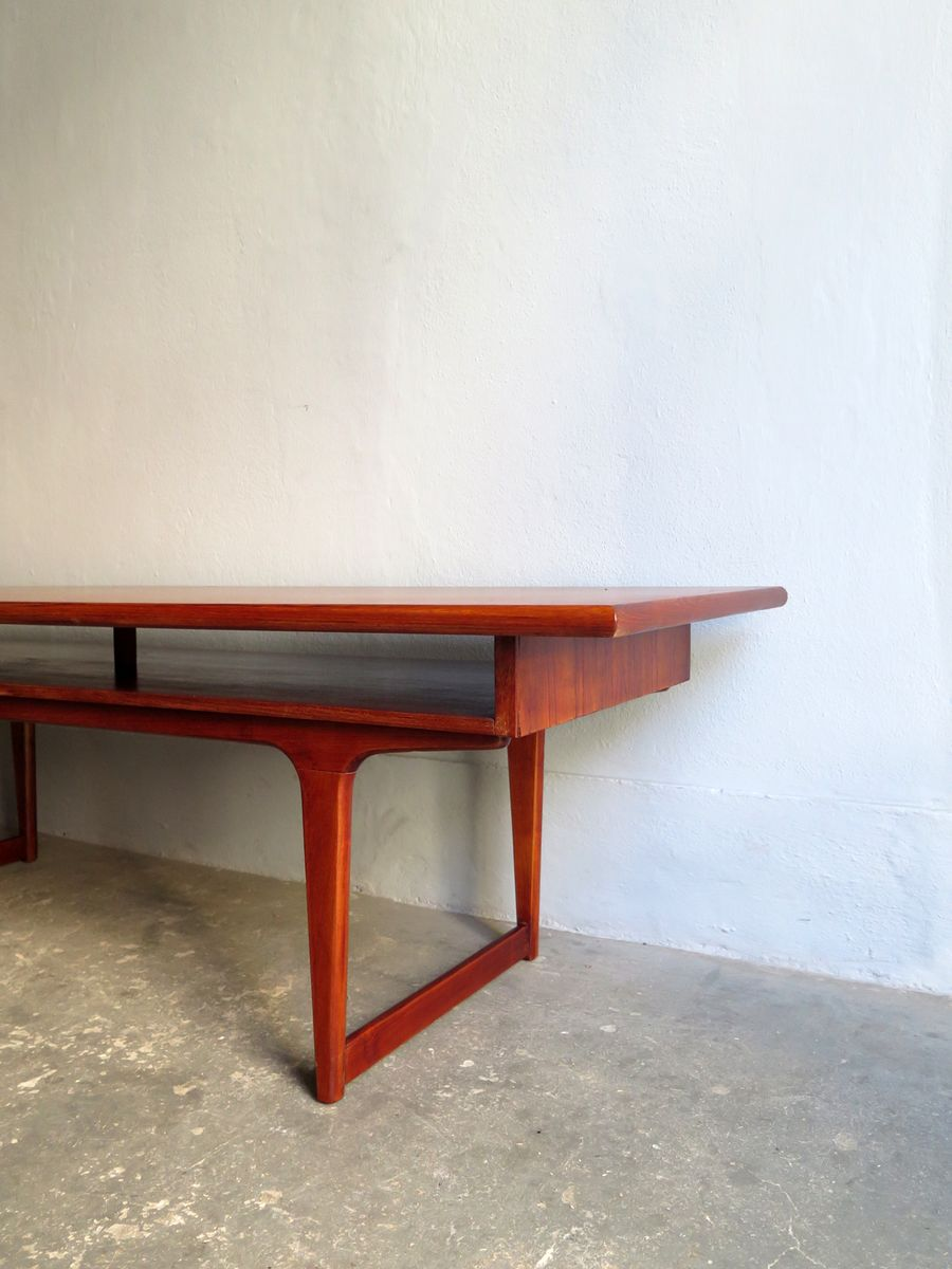 Mid century teak sofa table for sale at pamono for Sofa table sale