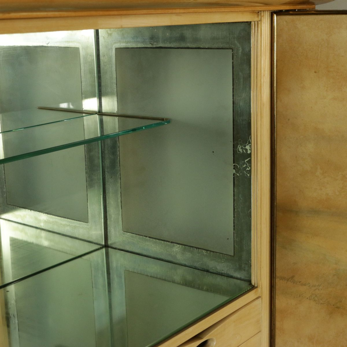 Italian maple beech cabinet with internal bar 1950s for for Italian cabinets