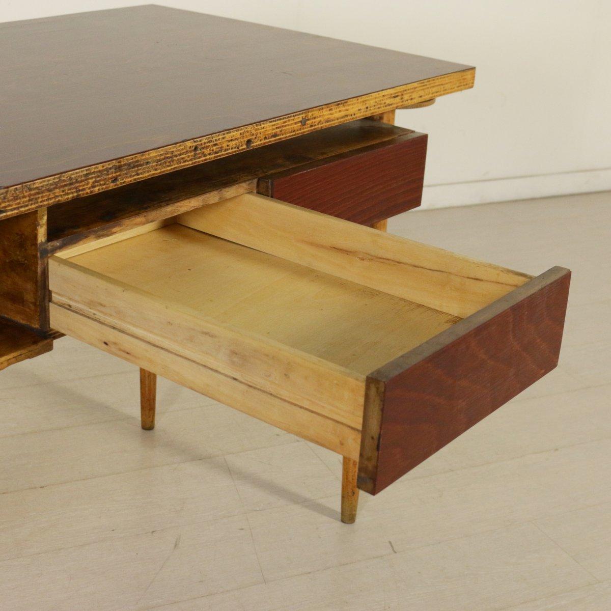 Italienischer schreibtisch aus ahorn buchenholz 1950er for Schreibtisch aus ahorn