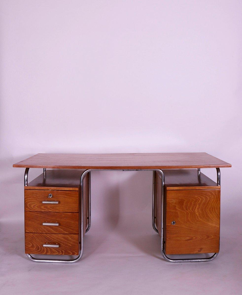 vintage bauhaus schreibtisch von robert slezak bei pamono kaufen. Black Bedroom Furniture Sets. Home Design Ideas