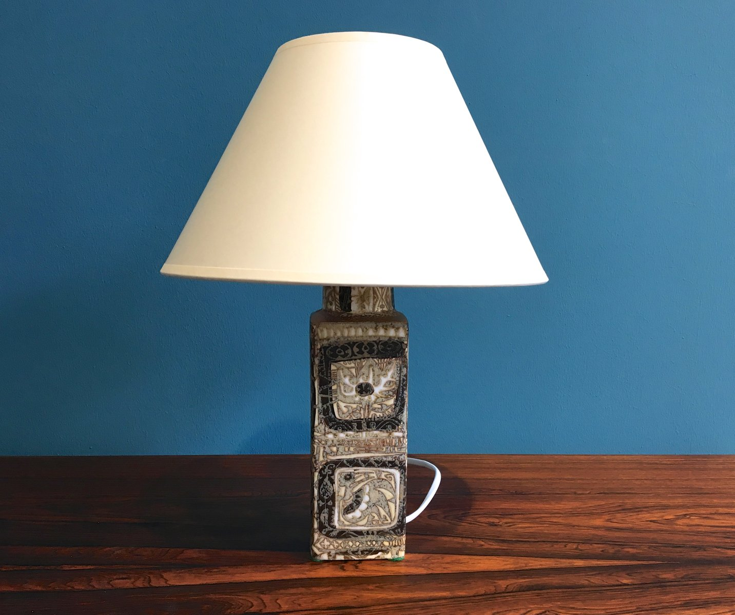 Royal blue table lamp - Baca Table Lamp By Nils Thorsson For Royal Copenhagen 1960s