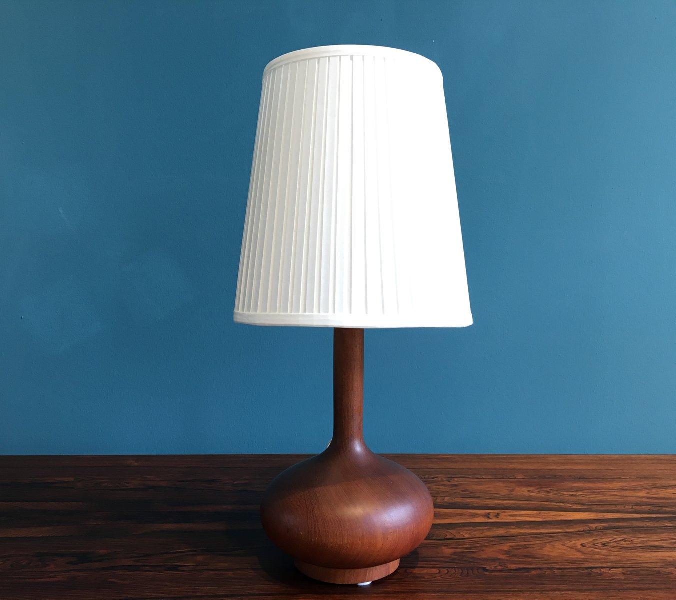 Vintage scandinavian wooden table lamp 1960s for sale at for Vintage wooden table lamps