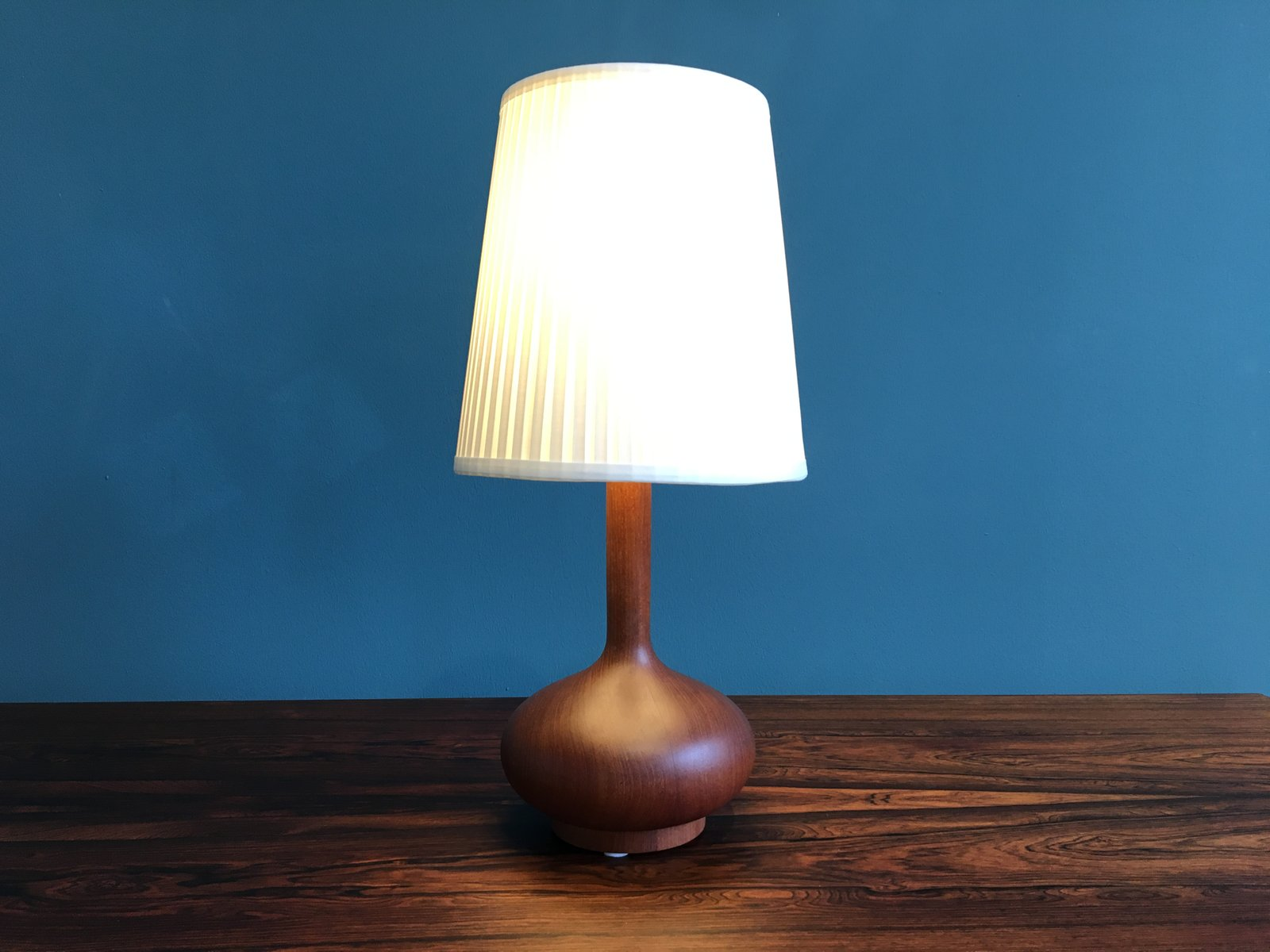 Vintage Scandinavian Wooden Table Lamp, 1960s for sale at ...