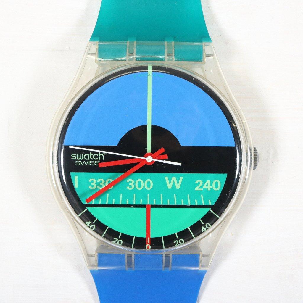 gro e armbanduhr wanduhr von swatch 1987 bei pamono kaufen. Black Bedroom Furniture Sets. Home Design Ideas