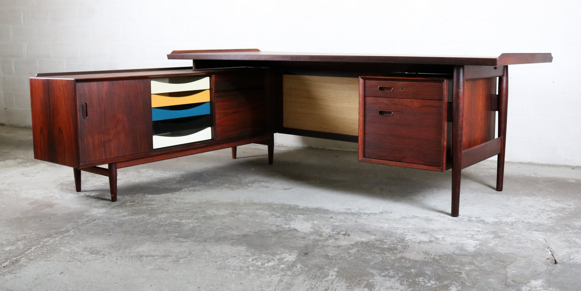 executive desk by arne vodder for sibast 1960s for sale at pamono. Black Bedroom Furniture Sets. Home Design Ideas