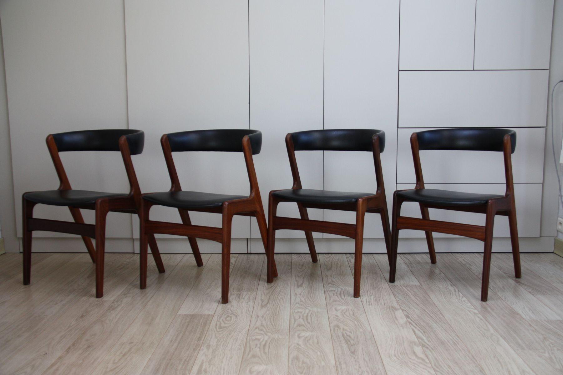 Table de salle manger vintage rallonge et 4 chaises en for Salle a manger 1950