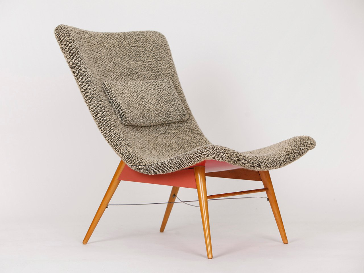 mid century stuhl von miroslav navratil f r cesky nabytek. Black Bedroom Furniture Sets. Home Design Ideas