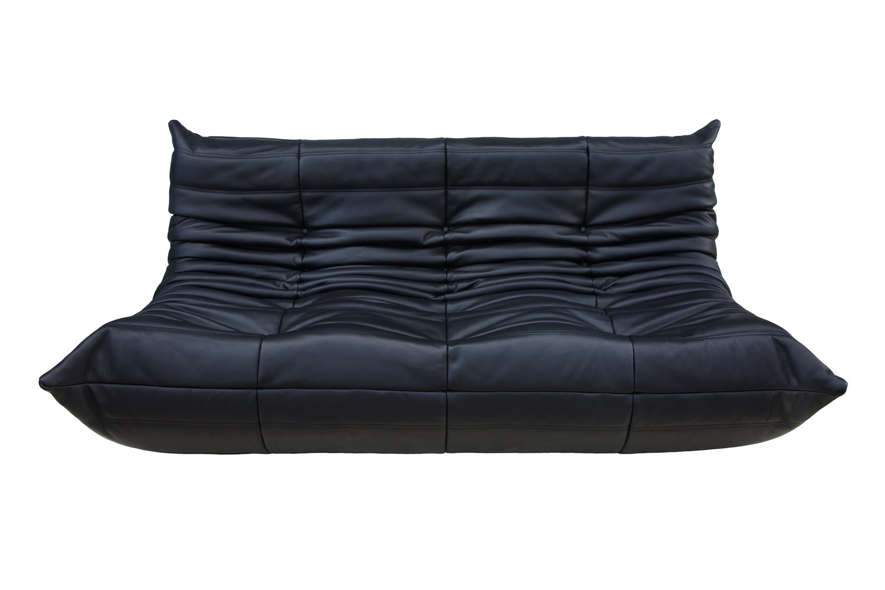 Black Leather 3 Seater Togo Sofa By Michel Ducaroy For Ligne Roset For Sale At Pamono